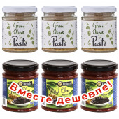 НАБОР 3шт Attica Food паста из зеленых оливок 180г стекло + 3шт Delphi паста из маслин 190г стекло (1шт=193р)