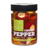 Перец черри красный сладкий с сыром Фета Attica Food 270г стекло