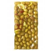 """Attica Food гигантские оливки с косточкой """"Damaskino"""" с орегано 1100г вакуум"""