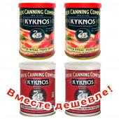 НАБОР: 2шт Kyknos томатная паста 410г жесть + 2шт Kyknos соус для пиццы 400г жесть (1шт=174р)