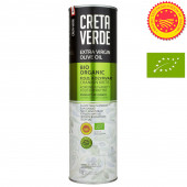 Creta Verde оливковое масло Extra Virgin Organic (Bio) P.D.O. Kolymvari с о.Крит 1л жесть