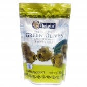 Оливки б/к маринованные с лимоном и ароматическими травами Delphi 150г фольга