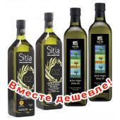 НАБОР 2шт Sitia оливковое масло Extra Virgin PREMIUM GOLD 0,2% P.D.O. Sitia с o.Крит 1л стекло + 2шт Sellas оливковое масло Extra Virgin 0,3% c п/o Пелопоннес 1л стекло (1шт=901р)