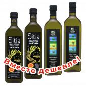 НАБОР 2шт Sitia оливковое масло Extra Virgin PREMIUM GOLD 0,2% P.D.O. Sitia с o.Крит 1л стекло + 2шт Sellas оливковое масло Extra Virgin 0,3% c п/o Пелопоннес 1л стекло (1шт=913р)