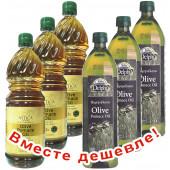 НАБОР 3шт Attica Food оливковое масло Pomace 1л пластик + 3шт Delphi оливковое масло Pomace 1л пластик (1шт=373р)