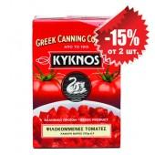 Kyknos томаты резанные в собственном соку 370г тетрапак