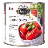 Delphi томаты очищенные в cобственном соку 2500г жесть
