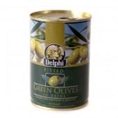 Delphi зеленые оливки б/к в рассоле 400г жесть