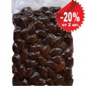 """Attica Food запеченные черные гигантские оливки """"Damaskino"""" в оливковом масле Extra Virgin 1000г вакуум"""