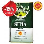 Sitia оливковое масло Extra Virgin 0,3% P.D.O. Sitia с о.Крит 1л жесть