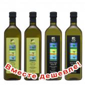 НАБОР 2 шт Sellas оливковое масло GREEN Extra Virgin нефильтрованное 0,2% с п/о Пелопоннес 1л стекло + 2шт Sellas оливковое масло Extra Virgin 0,3% c п/o Пелопоннес 1л стекло (1шт=944р)