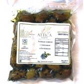Attica Food оливки зеленые с тимьяном и базиликом 200г вакуум