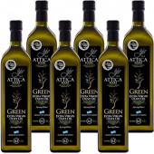 Attica Food оливковое масло GREEN Extra Virgin нефильтрованное 0,2% с п/о Пелопоннес 6штх1л стекло (1шт=802р)