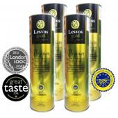 Lesvos gold оливковое масло Extra Virgin PREMIUM 0,2%  4штх1л жесть (1шт=1096р)