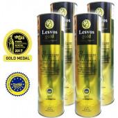 Lesvos gold P.G.I. оливковое масло Extra Virgin PREMIUM 0,2% c о.Лесвос 4штх1л жесть (1шт=1266р)