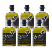 Attica Food оливковое масло GREEN Extra Virgin нефильтрованное 0,2% 6штх500мл стекло (1шт=622р)