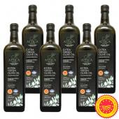 Attica Food оливковое масло Extra Virgin P.D.O. Kalamata с п/о Пелопоннес 6штx1л стекло (1шт=893р)