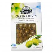 Оливки с косточкой маринованные с оливковым маслом Delphi 250г вакуум