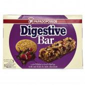 """Злаковый батончик с кусочками печенья """"Digestive"""" """"PAPADOPOULOS"""" c ягодами и молочным шоколадом 140г"""