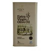 Attica Food оливковое масло Extra Virgin 0,3% c п/o Пелопоннес 3л жесть (1л=700р)