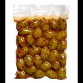 """Аttiсa Food зеленые оливки """"Halkidiki"""" с паприкой 500г вакуум"""