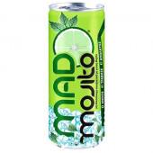 Напиток безалкогольный со вкусом махито Green Mad Majito, 250мл, жесть