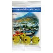 Ilida зеленые оливки б/к со специями 80г фольга
