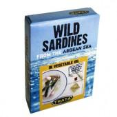 TRATA дикие сардины в подсолнечном масле 100г жесть