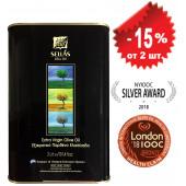 Sellas оливковое масло Extra Virgin 0,3% c п/o Пелопоннес 3л жесть