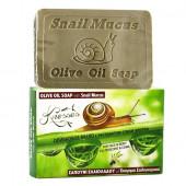 Knossos натуральное оливковое мыло с экстрактом слизи улитки 100г
