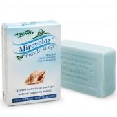 """Anemos """"Mirovolos"""" голубое мыло с мастикой о.Хиос и морским ароматом 100г"""