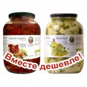 НАБОР Kontos томаты вяленые в подсолнечном масле 1600г стекло + Kontos артишоки в подсолнечном масле 1600г стекло (1шт=1404p)