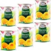 Delphi половинки персиков в легком сиропе 6шт х 820г жесть (1шт=149р)