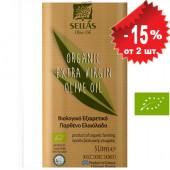 Sellas оливковое масло Extra Virgin Organic (Bio) c п/o Пелопоннес 1л жесть