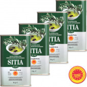 Sitia оливковое масло Extra Virgin 0,3% P.D.O. Sitia с о.Крит 4штх1л жесть (1шт=875р)