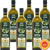 Sitia оливковое масло Extra Virgin 0,3% P.D.O. Sitia с о.Крит 6штх1л стекло (1шт=875р)