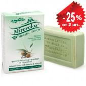 """Anemos """"Mirovolos"""" зеленое мыло с мастикой о.Хиос и оливковым маслом 100г"""