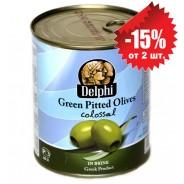Delphi зеленые oливки COLOSSAL 121/140 б/к в рассоле 820г жесть