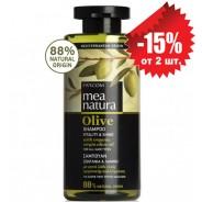 Mea Natura натуральный шампунь для всех типов волос с оливковым маслом 300мл