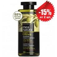 Mea Natura шампунь для сухих и поврежденных волос с оливковым маслом 300мл