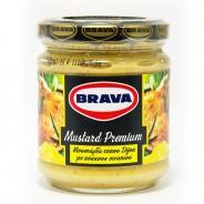 Brava горчица дижонская Премиум с зернами горчицы 200г стекло