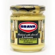 Brava горчица с оливковым маслом и бальзамическим уксусом 200г стекло