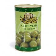 Delphi зеленые оливки ATLAS 70/90 б/к в рассоле 4100г жесть