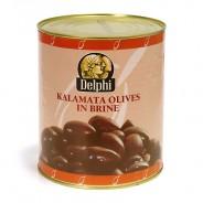 """Delphi маслины """"Каламата"""" EXTRA LARGE 201/230 б/к c п/o Пелопоннес в рассоле 3000г жесть"""