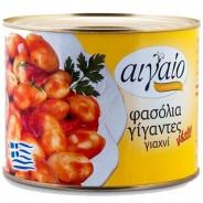 Aigaio печеная гигантская фасоль из Касторьи в томатном соусе 2000г жесть
