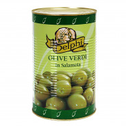 Delphi зеленые оливки ATLAS 70/90 в рассоле 4250г жесть
