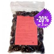 """Attica Food запеченные черные гигантские оливки """"Дамаскино"""" в оливковом масле Extra Virgin 1000г вакуум"""