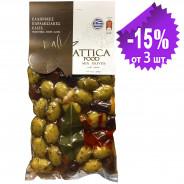 "Attica Food ассорти зеленые оливки ""Halkidiki"" и оливки ""Kalamon"" 250г вакуум"