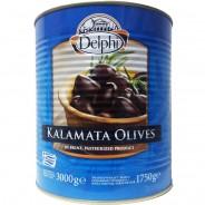 """Delphi маслины """"Kalamata"""" COLOSSAL 121/140 c п/o Пелопоннес в рассоле 3000г жесть"""