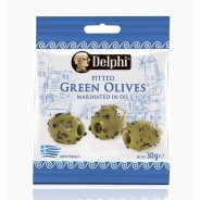 Delphi зеленые оливки б/к в оливковом масле 30г вакуум